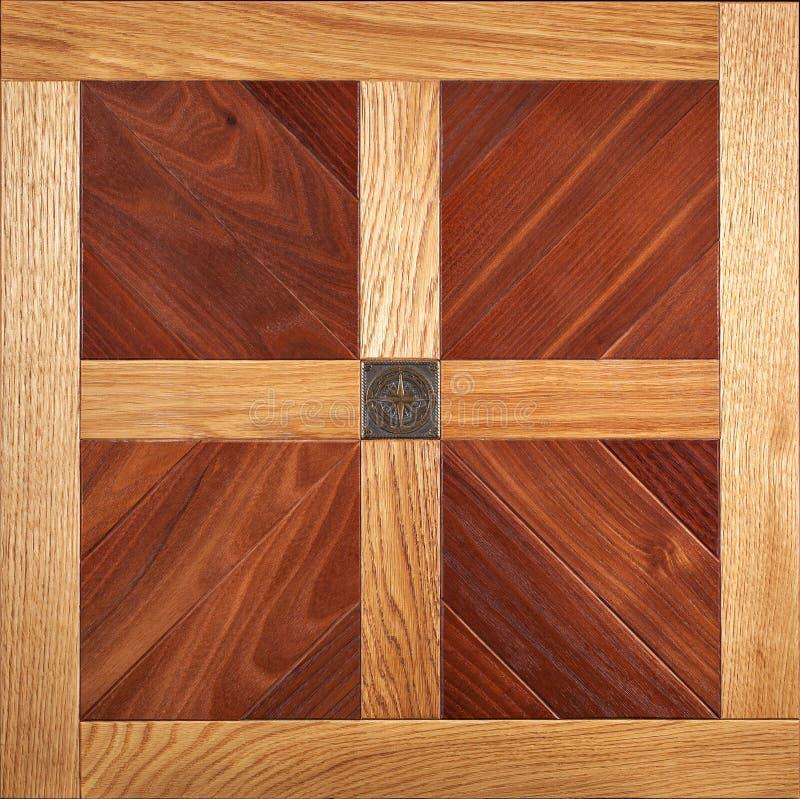 精华模件木条地板 与豪华纹理和样式的自然木地板 顶视图 图库摄影