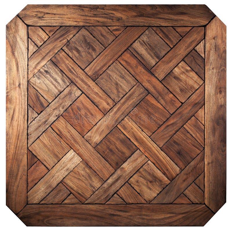 精华模件木条地板 与豪华纹理和样式的自然木地板 顶视图 免版税库存图片