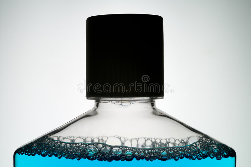 精华等嘴parfume洗涤 库存照片