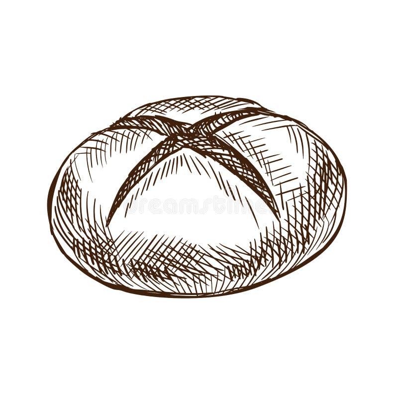 精华面包,点心,面包店产品 新鲜的热的被烘烤的面包 向量例证