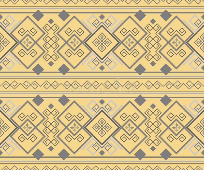 精妙的古色古香的无缝的装饰品 库存例证