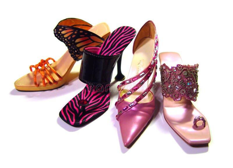 精密鞋子 库存图片