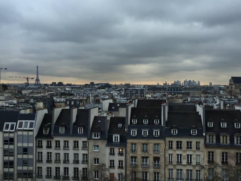 精密巴黎街 免版税图库摄影
