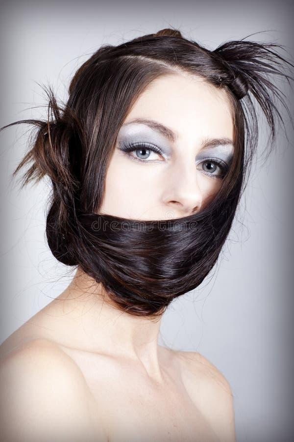 精心制作的头发称呼 图库摄影