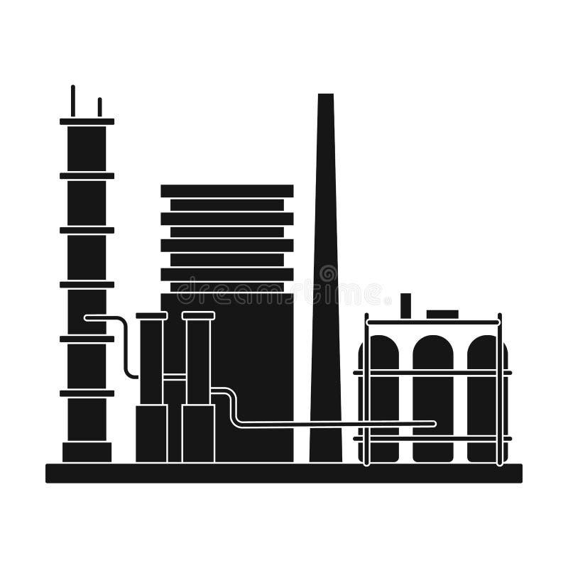精炼厂 上油在黑样式传染媒介标志股票例证网的唯一象 皇族释放例证