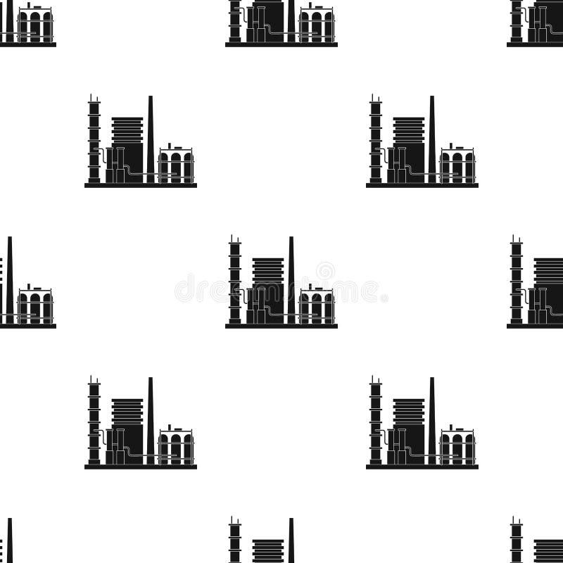 精炼厂 上油在黑样式传染媒介标志股票例证网的唯一象 向量例证