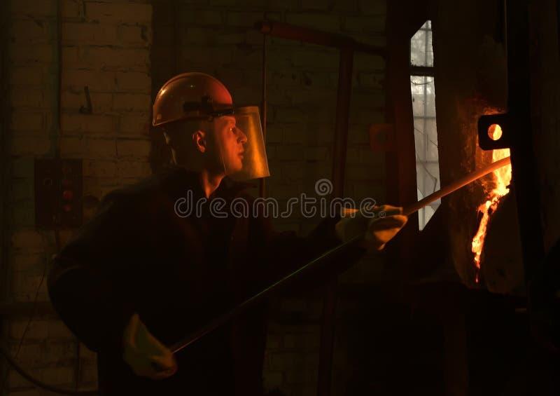 精炼工清洗热炉 免版税库存照片
