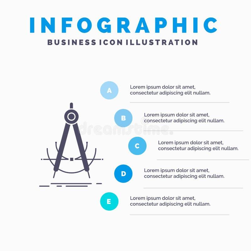 精确度、accure、几何、指南针、测量Infographics模板网站的和介绍 r 库存例证
