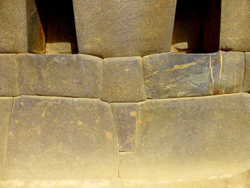 精确度印加人放置的石头块 免版税库存图片