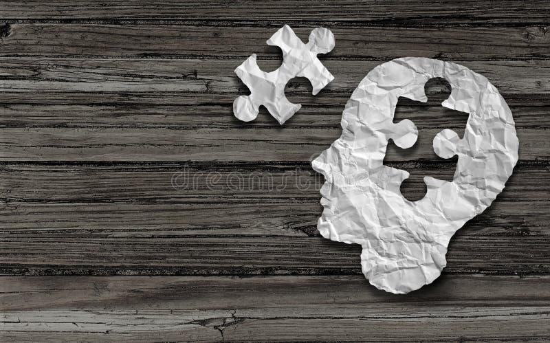 精神健康标志 向量例证