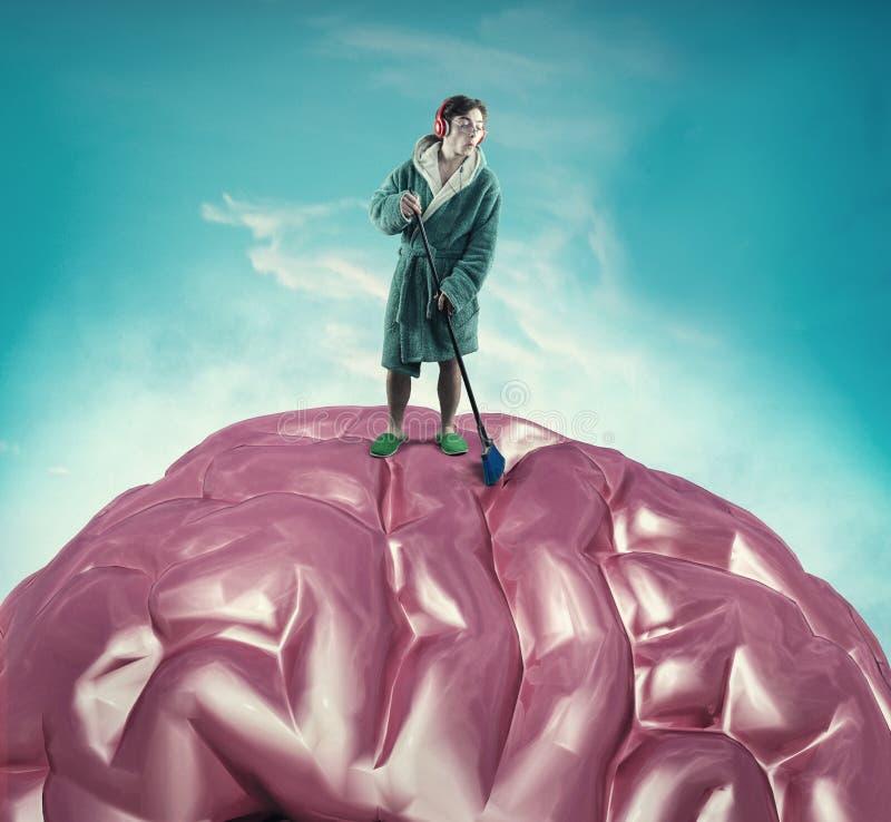 精神健康概念 库存照片