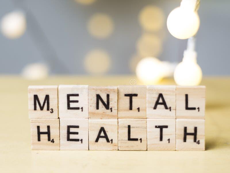 精神健康,医疗保健措辞行情概念 库存照片
