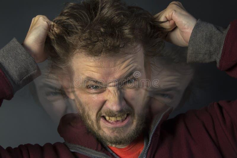 精神分裂症-多重人格 免版税库存照片