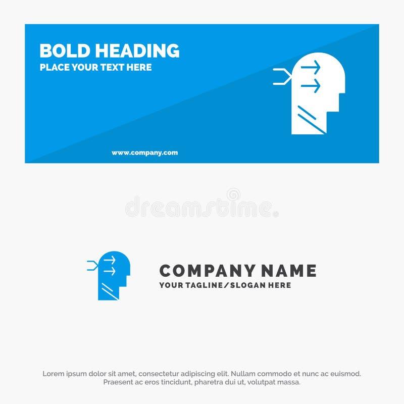 精神吊、头、布赖恩、想法的坚实象网站横幅和企业商标模板 库存例证