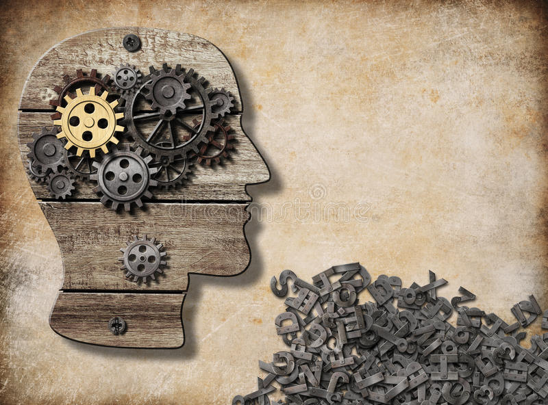 精神和口头活动,脑子式样概念 向量例证