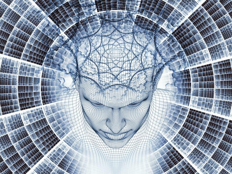 精神错乱的头脑 向量例证