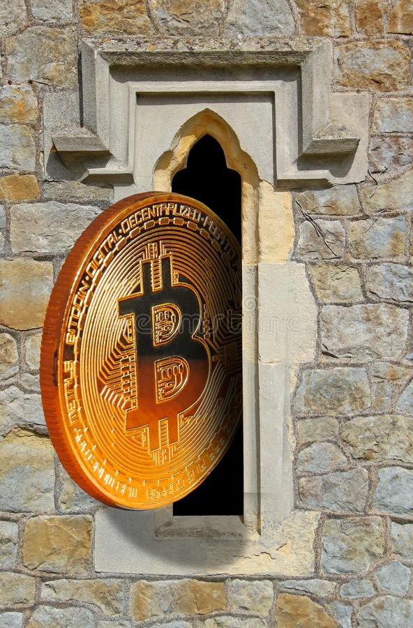 精神bitcoin 免版税库存照片