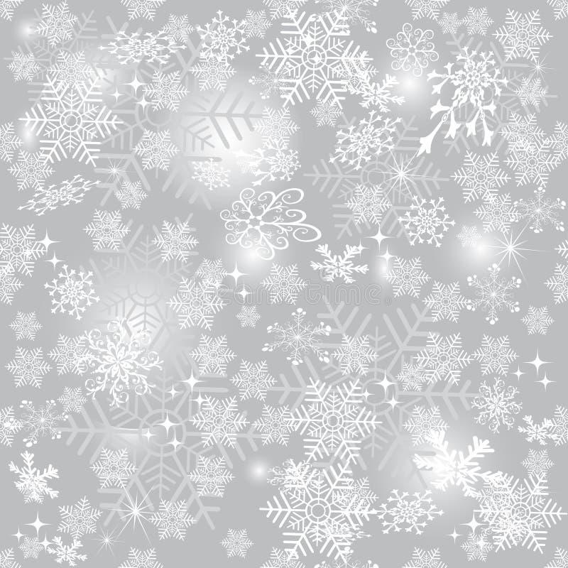 精美银色无缝的圣诞节样式 皇族释放例证