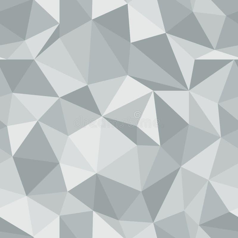 精采无缝的样式 金刚石三角传染媒介背景 向量例证