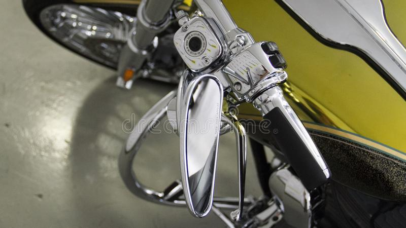 精采镀铬物摩托车 免版税库存照片