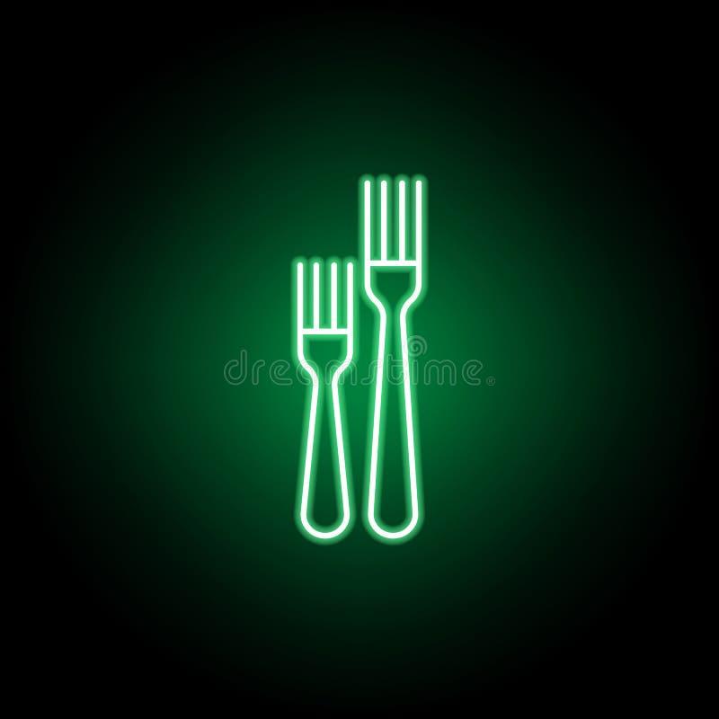 糕点叉,晚餐叉子象 E 库存例证