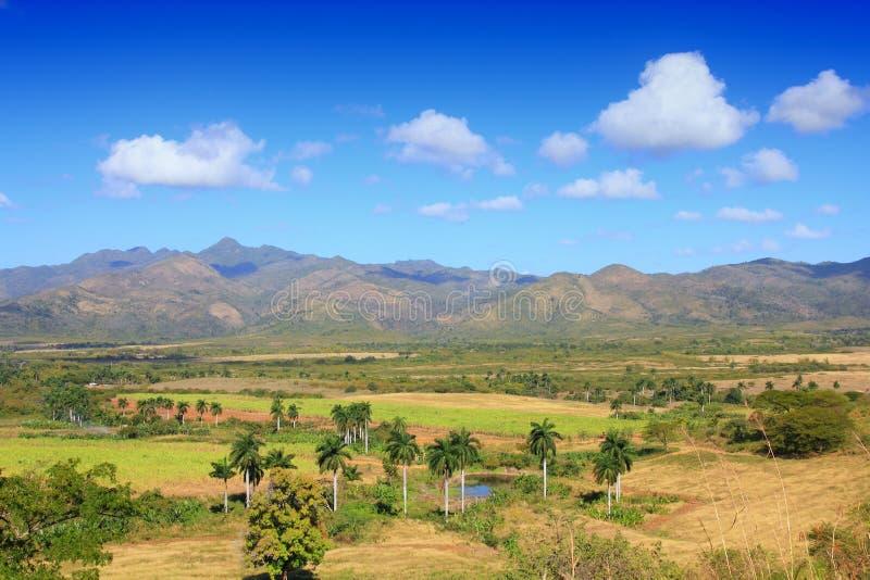糖厂谷,古巴 免版税图库摄影