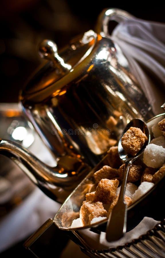 糖和茶壶 库存图片