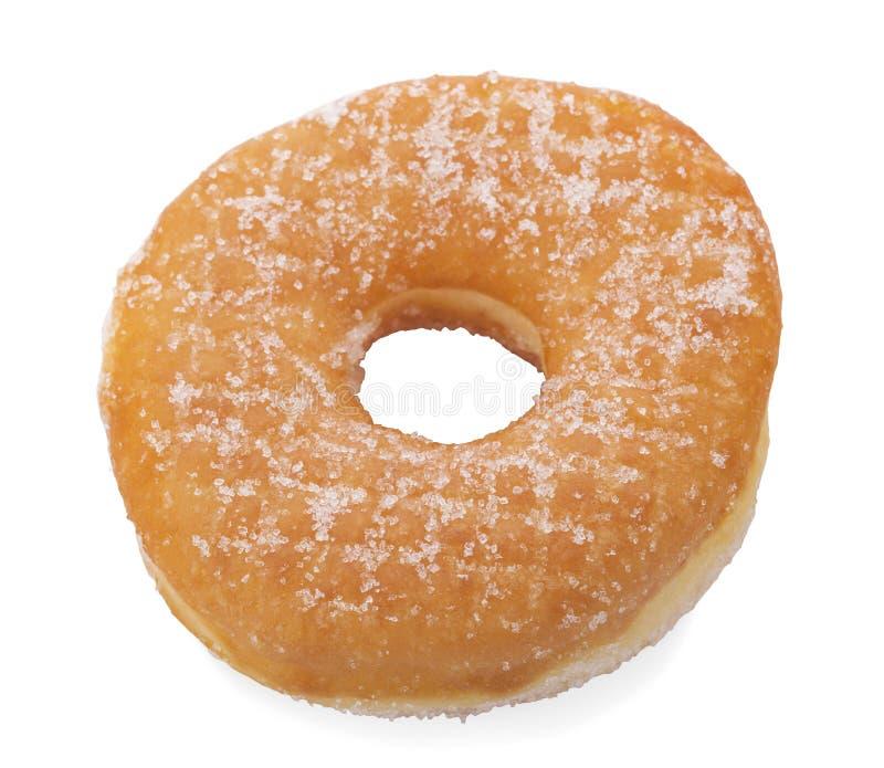 糖在白色背景隔绝的圆环多福饼 库存图片