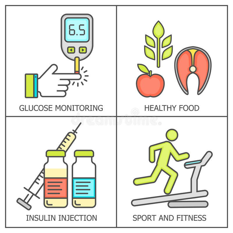 糖尿病色的传染媒介背景 向量例证