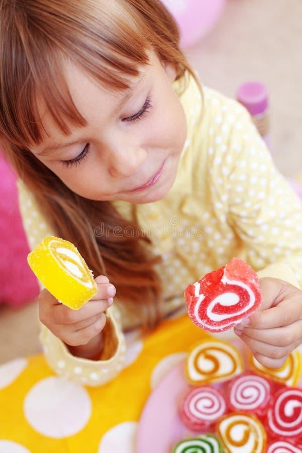 糖果儿童逗人喜爱吃 库存图片
