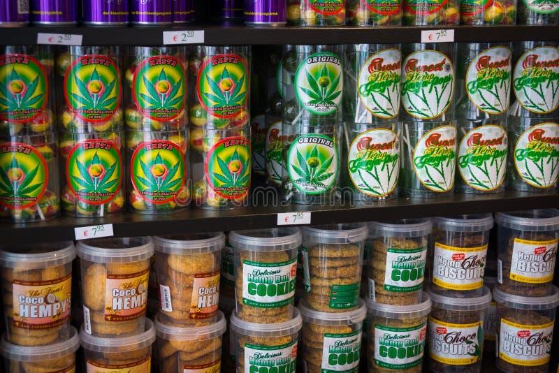 糖果和曲奇饼用大麻 库存照片