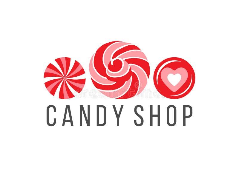 糖果商店商标 库存例证