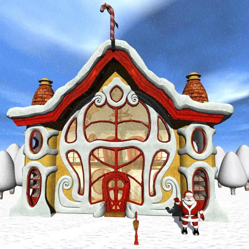 糖果圣诞老人界面印度桃花心木 库存例证