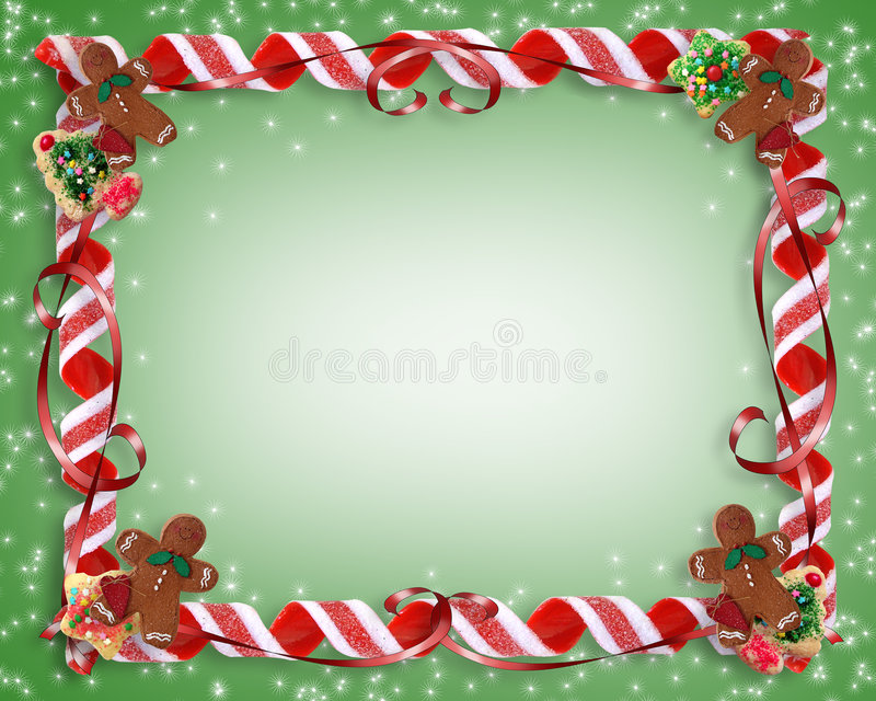 糖果圣诞节曲奇饼框架 皇族释放例证