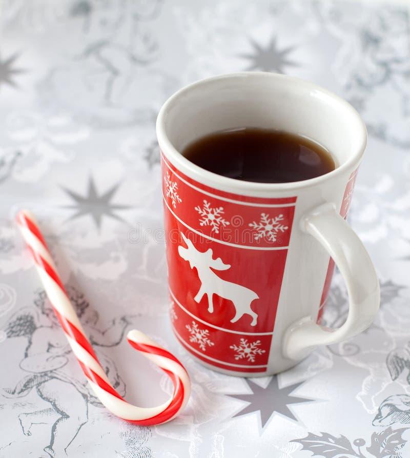 糖果圣诞节杯子茶 库存照片