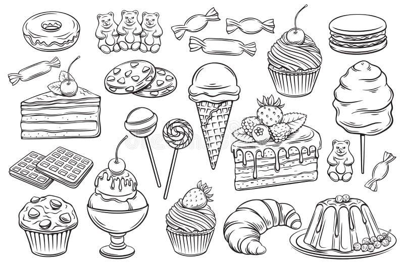 糖果店和甜点象