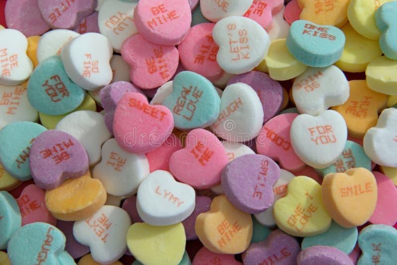 糖果心脏华伦泰糖果 免版税库存照片