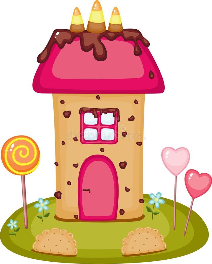 糖果房子 向量例证