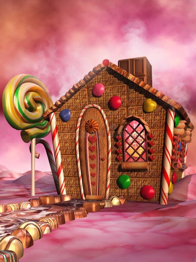糖果房子 库存例证