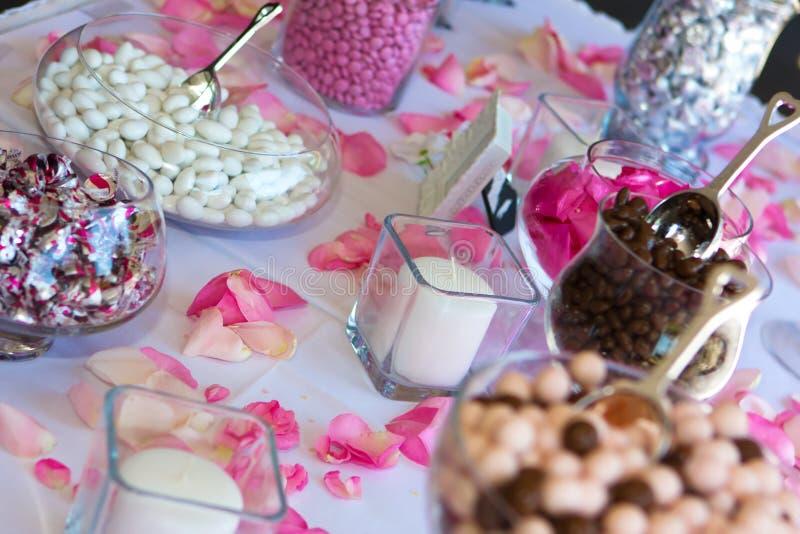 糖果接收表婚礼 免版税库存照片