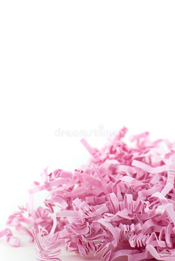 糖果桃红色之字形纸五彩纸屑 免版税图库摄影