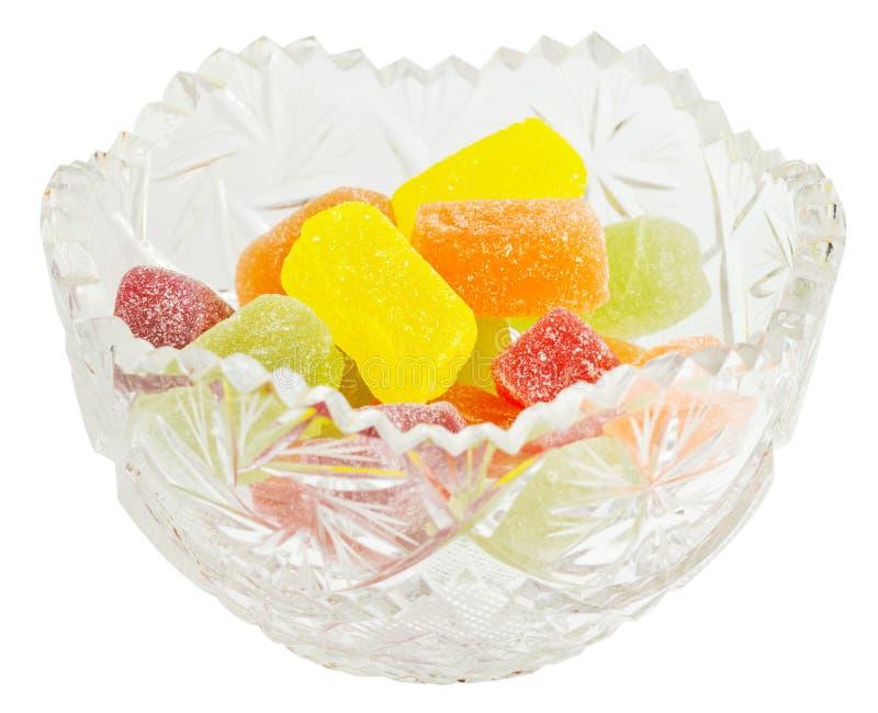 糖果水晶果冻花瓶 库存照片