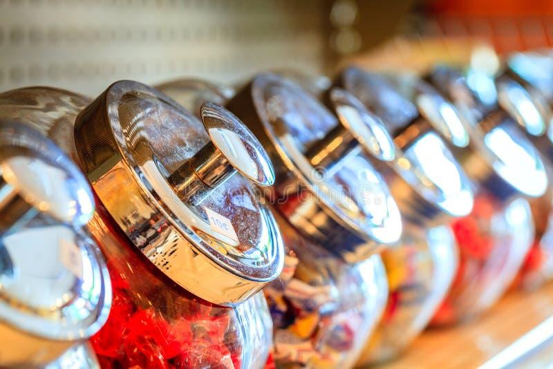 糖果瓶子 免版税库存图片