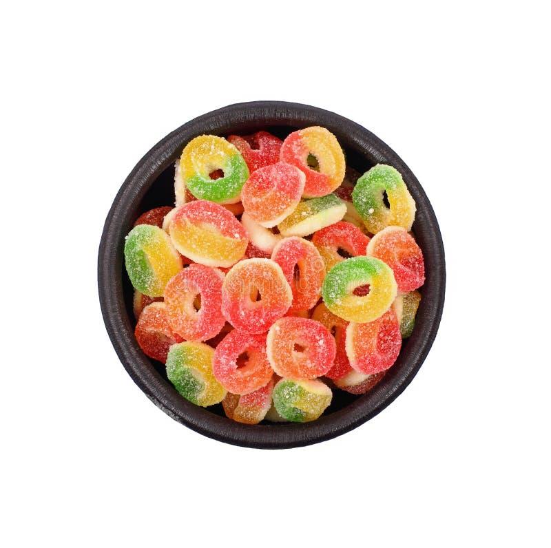 糖果耐嚼的组甜点 库存照片