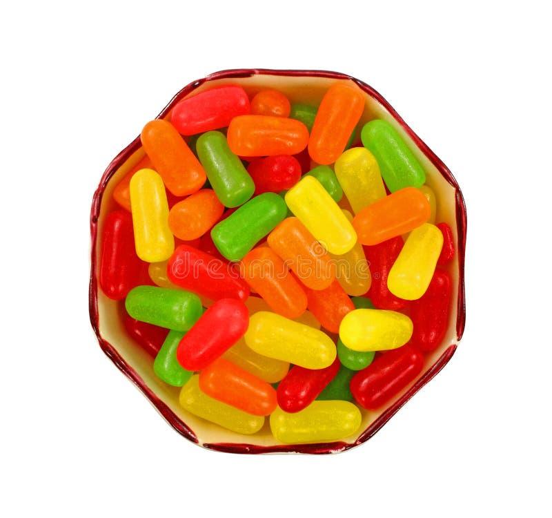 糖果耐嚼的顶上的甜视图 免版税库存照片