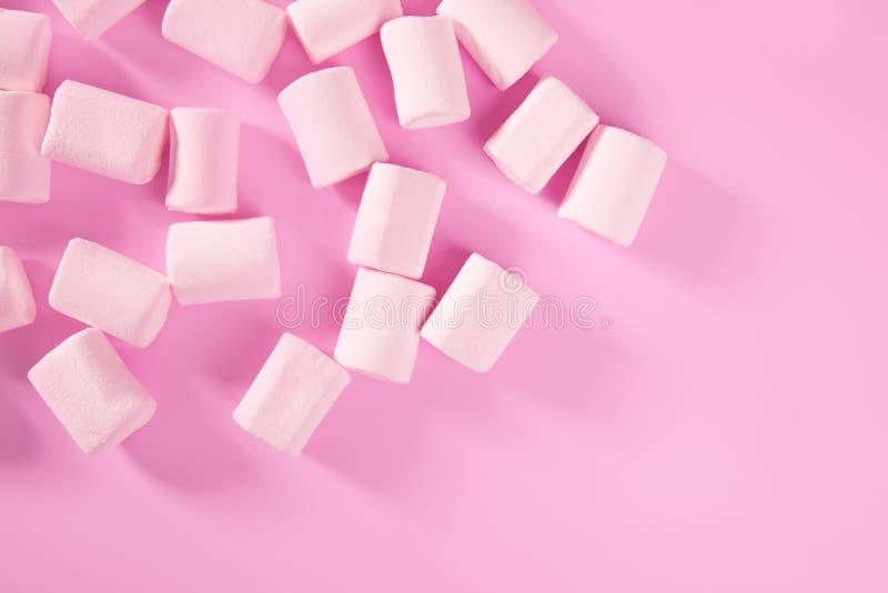 糖果蛋白软糖模式粉红色甜点纹理 库存照片