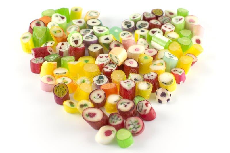 糖果重点大量形状 免版税库存照片
