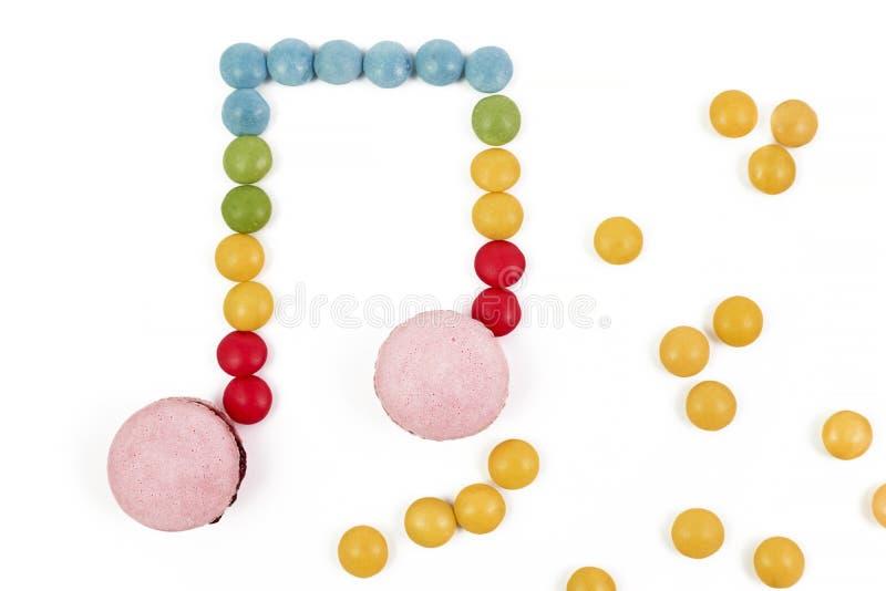 糖果音符 库存照片