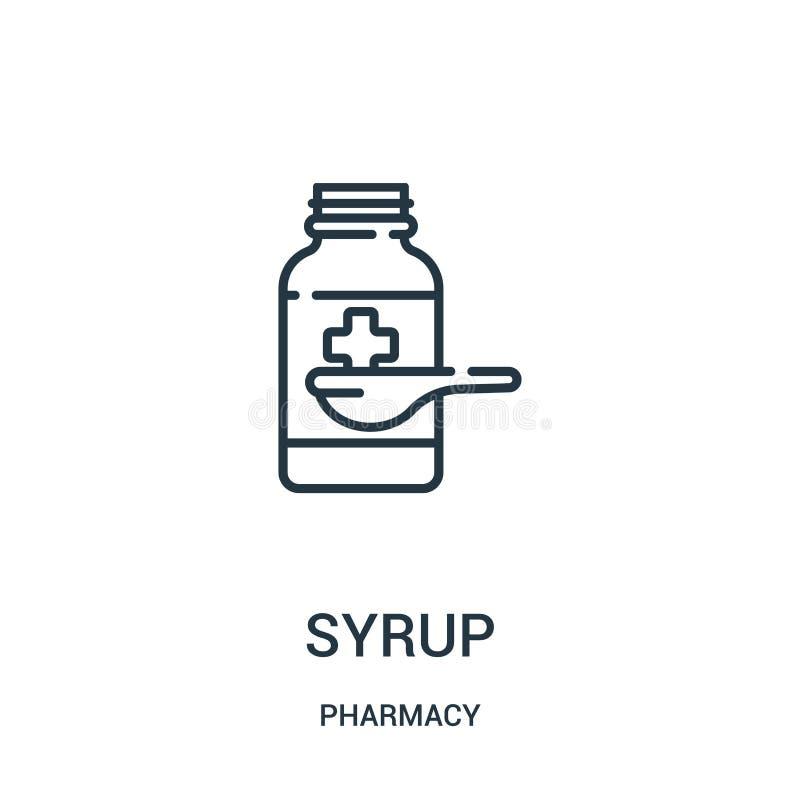 糖浆从药房汇集的象传染媒介 稀薄的线糖浆概述象传染媒介例证 皇族释放例证