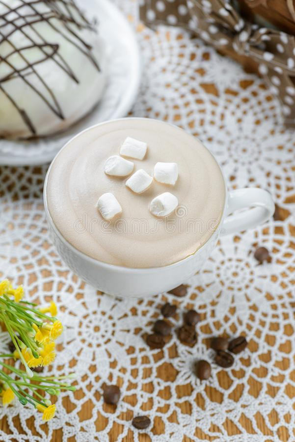 糖渍的咖啡用蛋白软糖 免版税库存图片